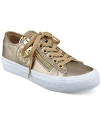 Guess Women's Gemica Lace Up Sneakers Women's Shoes Gold