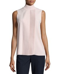 Vince Laser Cut Sleeveless Turtleneck Top New Buff