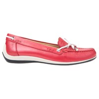 Geox Yuki Flat Loafers Red White