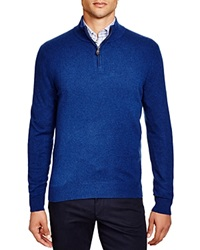 The Men's Store At Bloomingdale's Zip Mock Cashmere Sweater Pacific Blue
