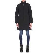 Canada Goose Heatherton Quilted Shell Coat Black Graphite
