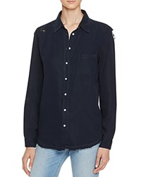 Dl1961 Mercer And Spring Distressed Button Down Shirt The Blue Shirt Shop Navy Overdye