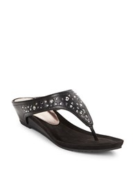 Kenneth Cole Reaction Great Leaps Studded Thong Sandals Black