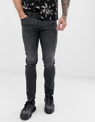 Voi Jeans Skinny In Washed Black