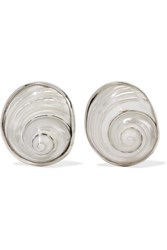 Sophie Buhai Silver Shell Earrings One Size