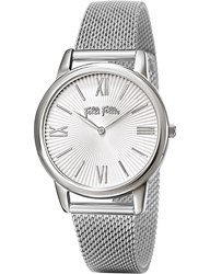 Folli Follie Wf15t032bpw_Xx Match Point Small Silver Plated And Stainless Steel Watch