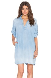 Bella Dahl A Line Shirt Dress Blue