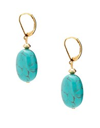 Lauren Ralph Lauren Reconstituted Turquoise 14K Goldplated Drop Pierced Earrings