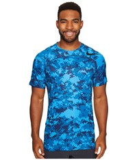 Nike Pro Hypercool Short Sleeve Training Top Industrial Blue Light Photo Blue Black Men's Clothing