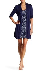 Tart Lilly Chemise And Robe 2 Piece Set Blue