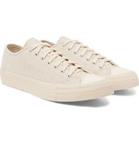 Visvim Skagway Lo Dogi Woven Canvas And Leather Sneakers Cream