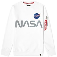 Alpha Industries Nasa Reflective Sweat Crew White