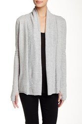 Kier And J Waterfall Cashmere Cardi Gray