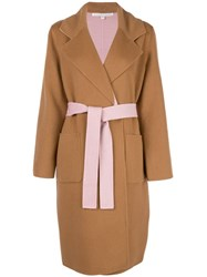 Veronica Beard Oversized Wrap Jacket Neutrals
