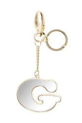 Topshop G' Mirror Initial Keyring Clear