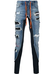 Paul And Shark Distressed Combined Trousers 60