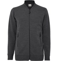 Snow Peak Zip Up Wool Blend Sweater Gray