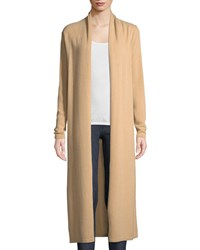 Neiman Marcus Long Cashmere Duster Cardigan Camel