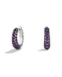 Hoop Earrings With Amethyst David Yurman