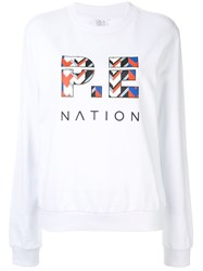 P.E Nation Tri Ball Sweatshirt White
