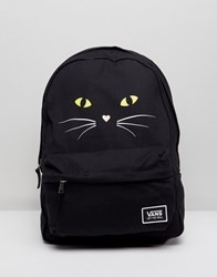 Vans Realm Classic Backpack With Cat Print Black Cat