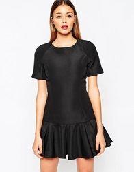 Finders Keepers Time Traveller Sleeve Dress Black
