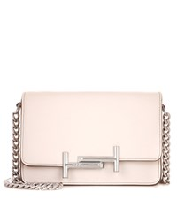 Tod's Micro Double T Leather Crossbody Bag Neutrals