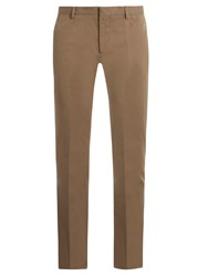 Maison Martin Margiela Slim Leg Stretch Cotton Trousers Khaki
