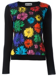 Moschino Daisy Print Jumper Black