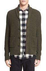 Rag And Bone Men's Standard Issue 'Avery' Shawl Collar Cardigan Army Green