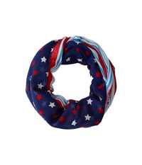 Collection Xiix Stars Stripes Loop Blue Scarves