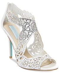 Blue By Betsey Johnson Livie Evening Sandals Women's Shoes Ivory