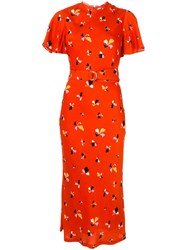Rebecca Vallance Abstract Floral Print Dress 60