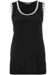 Dolce And Gabbana Daisy Tank Top Black