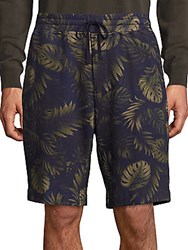 Vince Printed French Terry Sweat Shorts Coastal Blue