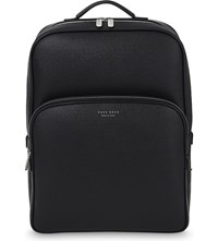 Hugo Boss Signature Leather Backpack Black