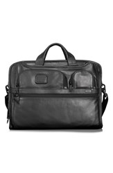Men's Tumi 'Alpha 2' Softside Expandable Leather Laptop Briefcase