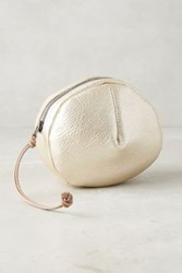 Anthropologie Pleated Circle Pouch Gold