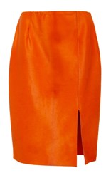 Diane Von Furstenberg Fitted Pencil Skirt Orange