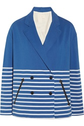 Band Of Outsiders Striped Cotton Jersey Jacket
