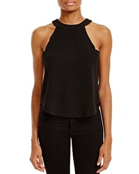 J.O.A. Sleeveless Crepe Top Black