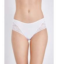 Triumph Amourette Spotlight Stretch Lace Hipster Briefs White