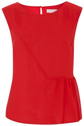 Havren Lottie Shell Top Red
