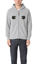 Remi Relief Sp Finish Black Panther Zip Hoodie Heather Grey