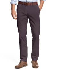 Tommy Hilfiger Men's Custom Fit Chino Pants Plum Perfect