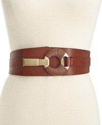 Styleandco. Style Co. Semi Wrap Interlock Stretch Belt Only At Macy's Cognac