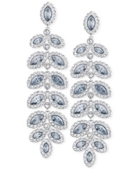 Swarovski Rhodium Plated Crystal Drop Earrings