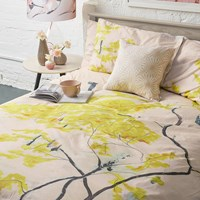 Anna Jacobs Chinese Tree Duvet Set Yellow Beige