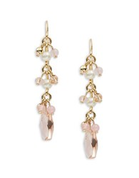 Lauren Ralph Lauren Semi Precious Linear Drop Earrings Gold