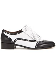 Tabitha Simmons Classic Brogue Shoes White